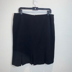 Rafaella Sz 14 career black skirt knee length